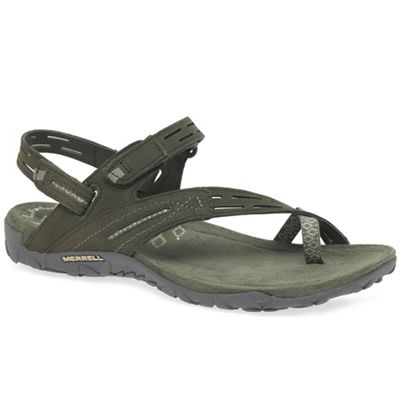 Merrell - Olive nubuck 'Terran Convert II' casual sandals