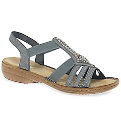 Rieker - Grey 'Cener' flat sandals