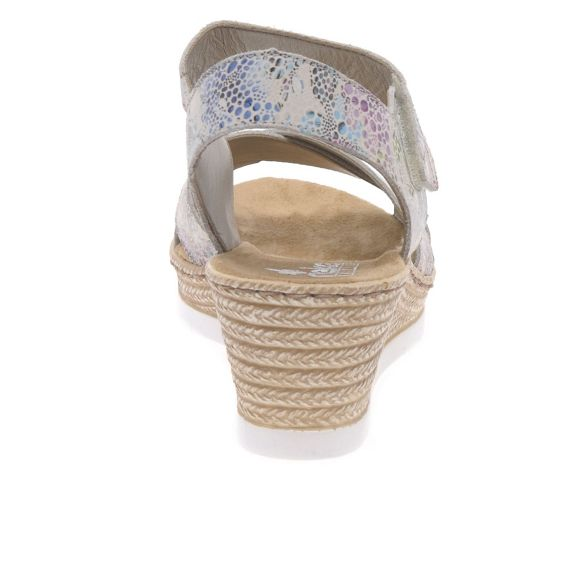 wedge Rieker 'Halifax' heeled sandals leather Coloured high Multi fwxfqr