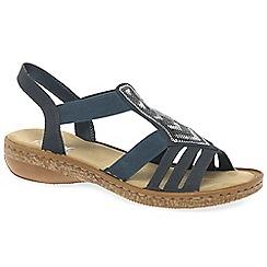 Rieker - Dark blue 'Wells' flat sandals
