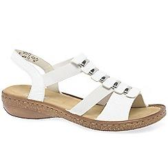 Rieker - White 'Trim' low heeled sandals