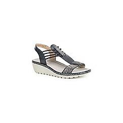 Rieker - Dark blue 'Quads' wedge heel sandals