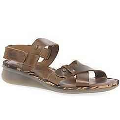 b525cefc426 Fly London - Camel  Crib  low wedge heeled sandals