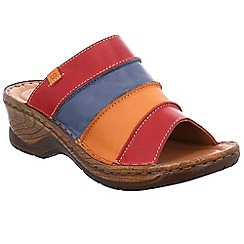 Josef Seibel - Multi Coloured leather 'Catalonia 64' mid heeled mules