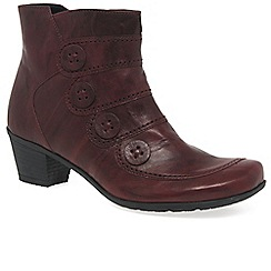 Gabor - Red 'Georgie' Womens Ankle Boots