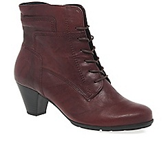 Gabor - Dark red 'National' Ladies Ankle Boots