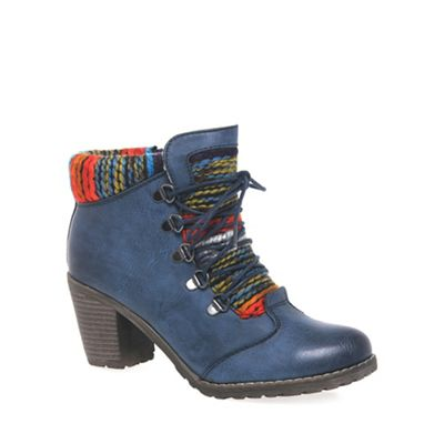 Rieker Navy 'Caledonia' Womens Lace Up Ankle Boots | Debenhams