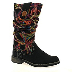 Rieker - Black 'Thread' Womens Long Boots