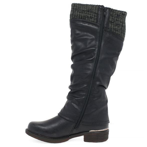 Rieker 'Knit' knee Black boots high 88xzZBq