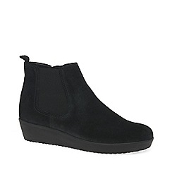 Gabor - Black 'Ghost' womens wedged ankle boots