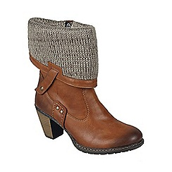 Rieker - Tan 'Riva' womens casual ankle boots