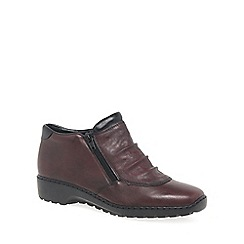 Rieker - Wine 'Trinket' womens casual ankle boots
