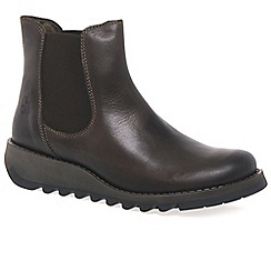 Fly London - Dark brown 'Salv' womens casual ankle boots