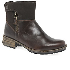 Josef Seibel - Dark Brown 'Sandra 24 Zip' womens casual boots