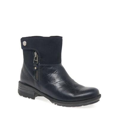 Josef Seibel - Navy 'sandra 24 zip' womens casual boots