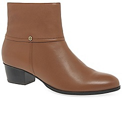 Van Dal - Tan leather 'Juliette' mid heeled ankle boots