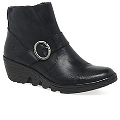 Fly London - Black 'Pais' womens casual ankle boots