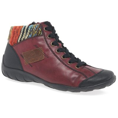 Rieker - Maroon 'Jura' womens casual ankle boots