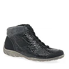 Rieker - Black 'Jura' Womens flat ankle boots