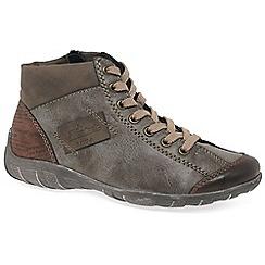 Rieker - Brown 'Jura' womens flat ankle boots