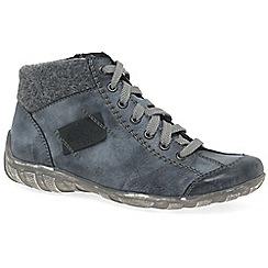 Rieker - Mid blue 'Jura' Womens flat ankle boots