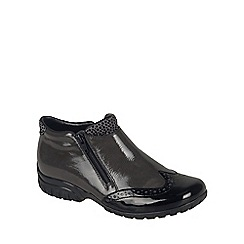 Rieker - Black Patent 'Trick' womens casual boots