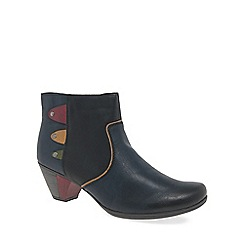 Rieker - Navy 'Sign' womens casual ankle boots