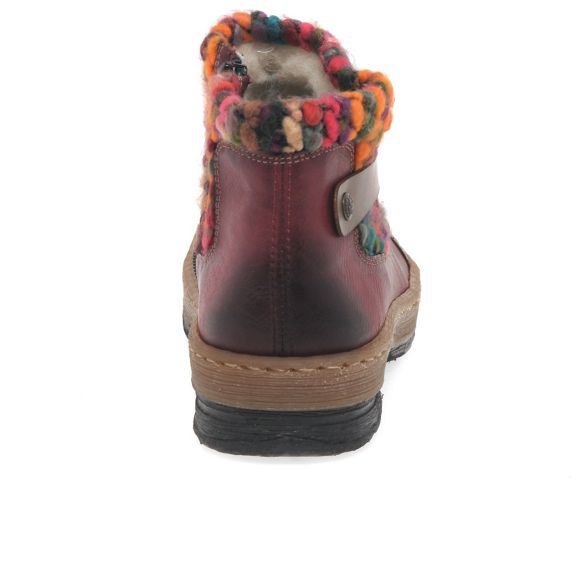 Wine Ankle 'Rambler' Knit Boots Rieker Panel Womens d5qXUqwxO
