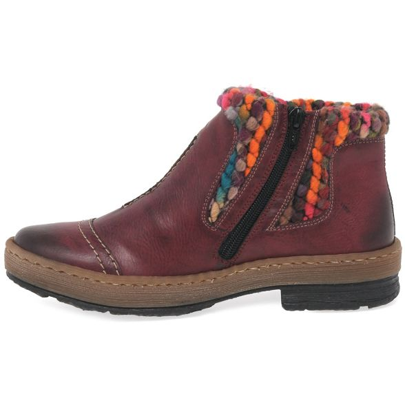 Rieker Ankle Wine Womens Panel 'Rambler' Knit Boots rxrZXRvw