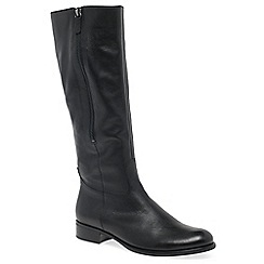Gabor - Black leather 'Louisa 2' flat knee high boots