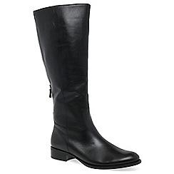 df94556e88d Gabor - Near black leather  Palmer   flat knee high boots