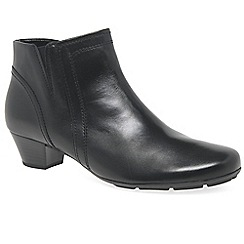 Gabor - Black leather 'heritage' womens modern ankle boots