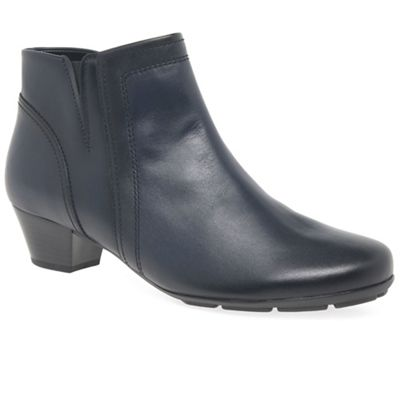geniue stockist cheap online cheap sale for cheap Dark blue leather 'Heritage' womens modern ankle boots discount low cost cheap perfect l7KsuxcGc
