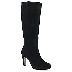 Gabor - Black suede 'drama' high heeled knee high boots