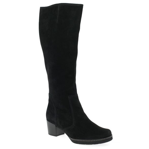 knee boots high heeled 'Paris' nubuck Black Gabor mid qxRwHB0X