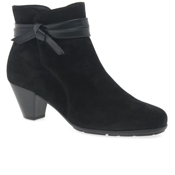 mid 'Tiffey' suede Black ankle Gabor heeled boots 0q78PwS6