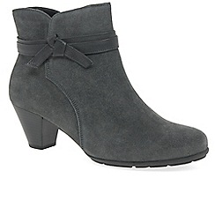 Gabor - Grey suede 'Tiffey' mid heeled ankle boots