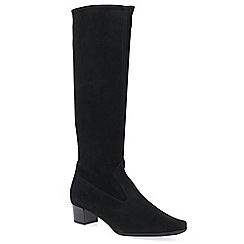 Peter Kaiser - Black suede 'Aila' mid heeled knee high boots