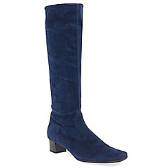 Peter Kaiser - Navy suede 'Aila' mid heeled knee high boots
