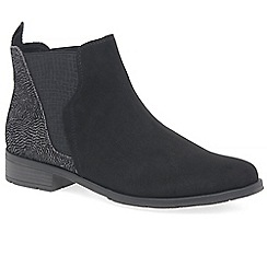 Marco Tozzi - Black 'Katy' flat Chelsea boots