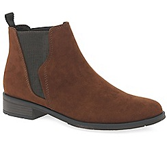 Marco Tozzi - Brown 'Katy' flat Chelsea boots
