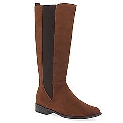 Marco Tozzi - Brown 'Malinda' flat knee high boots