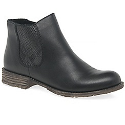 Rieker - Black leather 'Howden' flat Chelsea boots