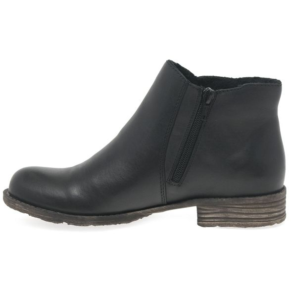leather Black flat 'Howden' Chelsea boots Rieker qSfaw0a