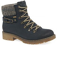 Rieker - Dark blue 'Peak' flat ankle boots