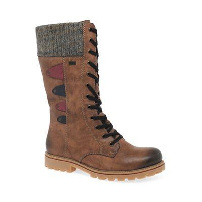 Rieker - Brown 'Marvelflat calf length boots