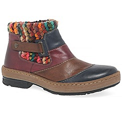 Rieker - Multi Coloured 'Rio' flat ankle boots