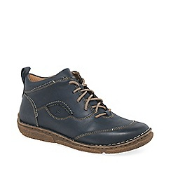 Josef Seibel - Blue leather 'neele 34' womens ankle boots