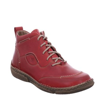 Josef Seibel - Red leather 'neele 34' womens ankle boots