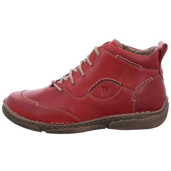 Josef boots womens Red leather 'neele ankle 34' Seibel HHfZ7